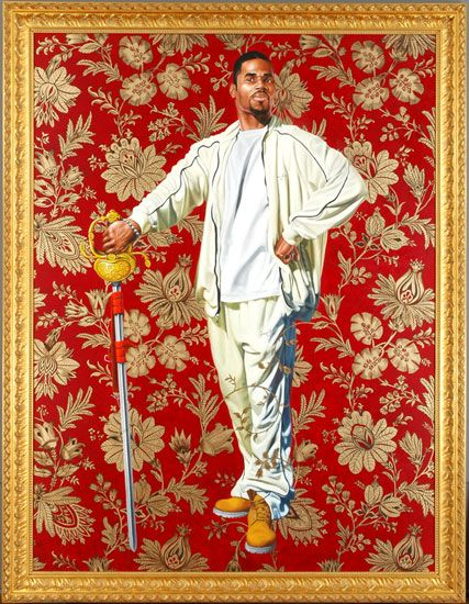 Kehinde Wiley.  Everything he does is the hotness.