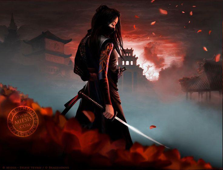 Картинка девочка самурай