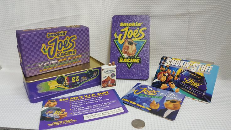 1994 Smokin Joes Tin with sealed matches, catalogs/promotionals and other inserts. by OldStuffExchange on Etsy