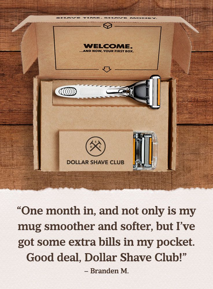 Sounds like a win-win to us. #DollarShaveClub