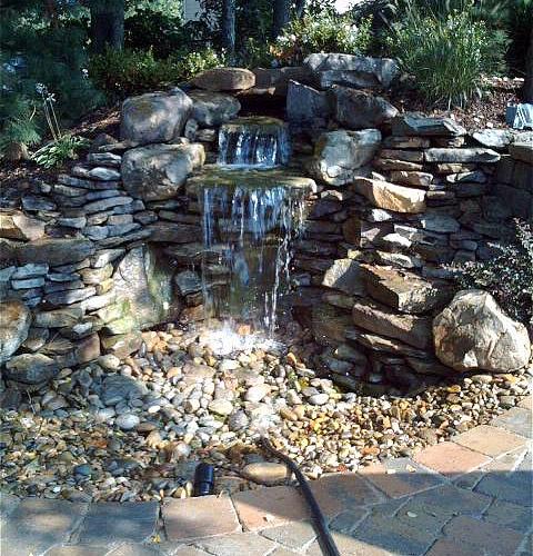 Rock Waterfall Garden Outdoors Pinterest