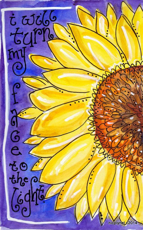 Turn Your Face to the Sunflower Illustration Print