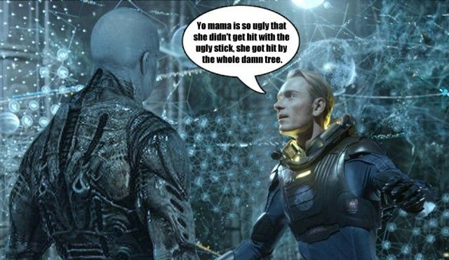 What Exactly David (Michael Fassbender) Said To The Engineer In Prometheus
