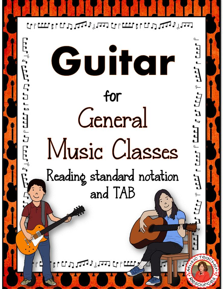 Guitar lessons. Do you have a middle school guitar class? This resource will help!   ♫ CLICK through to read more or save for later!   ♫