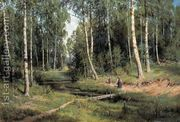 In The Birch Tree Forest, 1883  by Ivan Shishkin