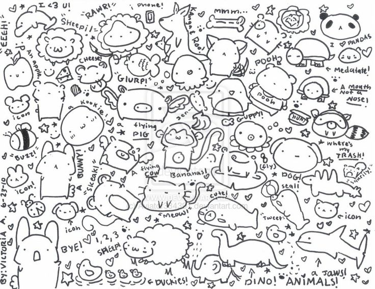 A page of random cute doodles by ~Aviator334391 on deviantART so cute <3 found it on google :o | lol | Cute doodles drawings, Cute doodles, Kawaii doodles