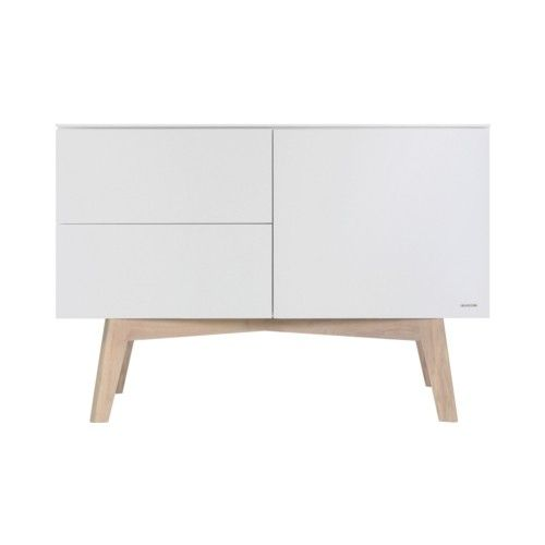 Sixties white matt / oak - Chest - Sixties white / oak - Nursery Furniture | Kidsmill