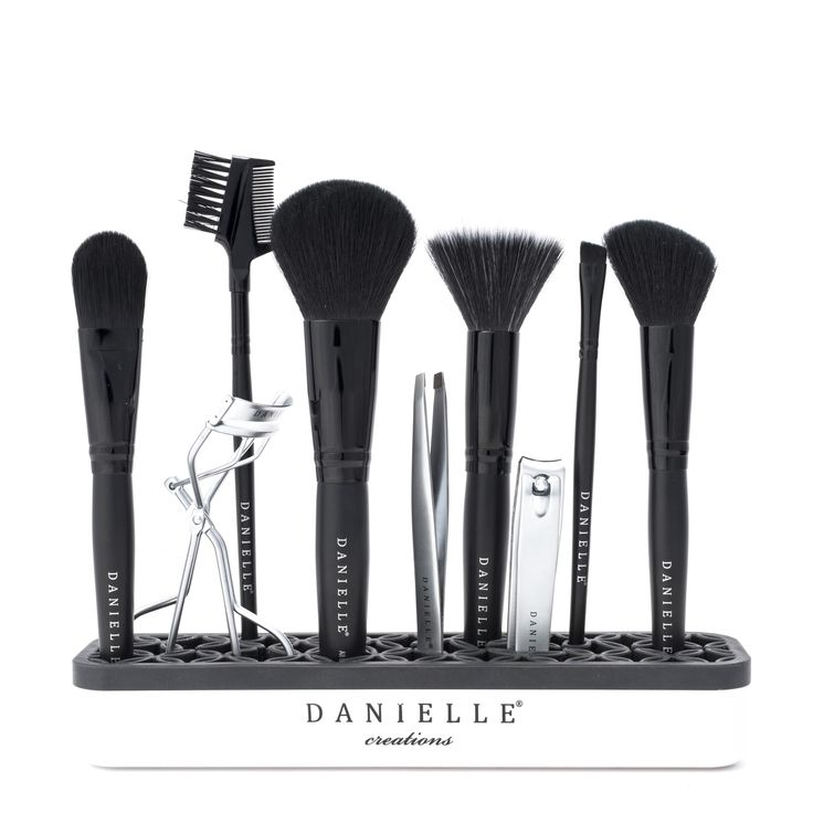 Keep all of your beauty tools insight and organized! Perfect for vanity tops or shelf organization.