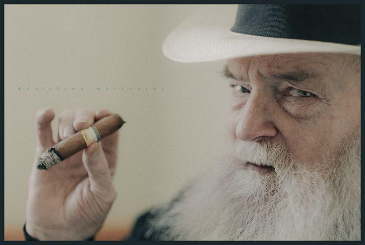 © Cristina Mesturini 2015, Roye Lee. #portrait #RoyeLee #beard #cigar