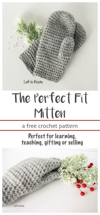 A FREE beginner friendly crochet pattern. These mittens will fit you perfectly because they can be easily customized in length! They are the next pattern in my