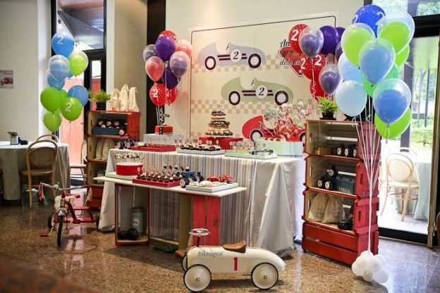 Vintage Race Car themed birthday party with Such Cute Ideas via Kara's Party Ideas Kara's Party Ideas | Cake, decor, cupcakes, games and more! KarasPartyIdeas.com #racecarparty #racecar #carparty #partyideas (22)