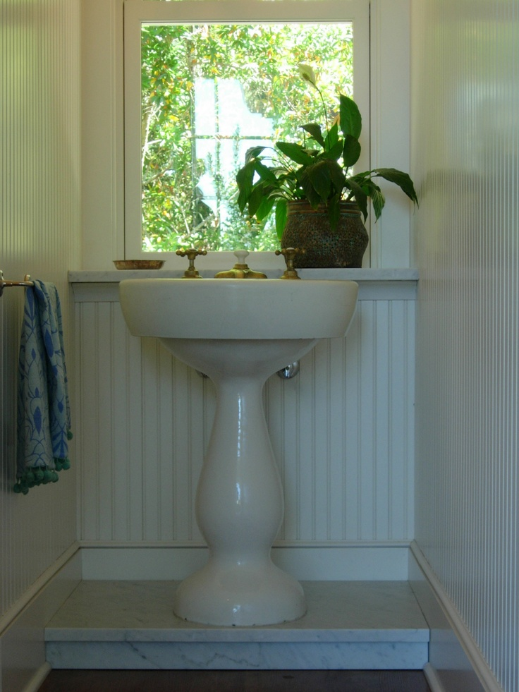 Elevate Your Antique Pedestal Sink By Building A Platform
