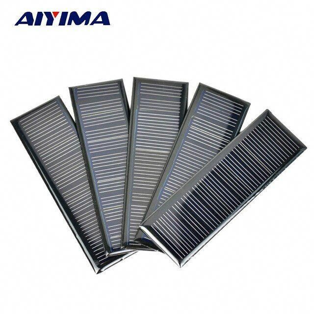 Aiyima 5pcs 6 V 0 6 W 0 1 A 120 38mm Poycrystalline Silicon Epoxy Solar Panels For Diy Solar Cells Lamp Light Charg In 2020 Solar Panels Solar Cell Solar Energy Panels