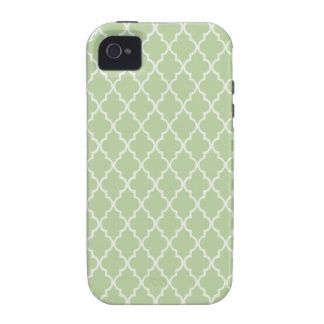 Celery Root. Mint Maroccan Trellis - Quatrefoil Case-Mate iPhone 4 Covers