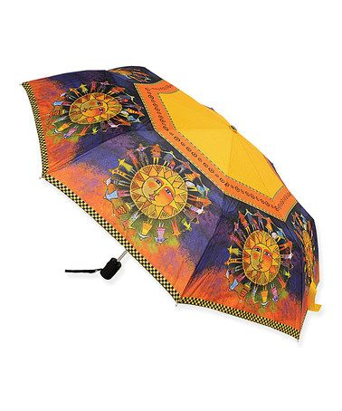 Love this Yellow & Purple Harmony Under the Sun Compact Umbrella by Laurel Burch on #zulily! #zulilyfinds