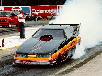 In 1986 Mike got the ride in the late Joe Pisano's Oldsmobile. Description from mikedunnracing.com. I searched for this on bing.com/images