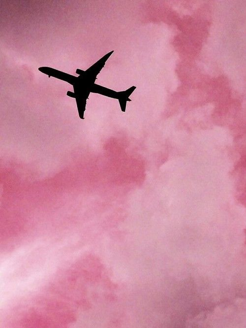 Imagen De Pink Airplane And Sky Roze Achtergronden