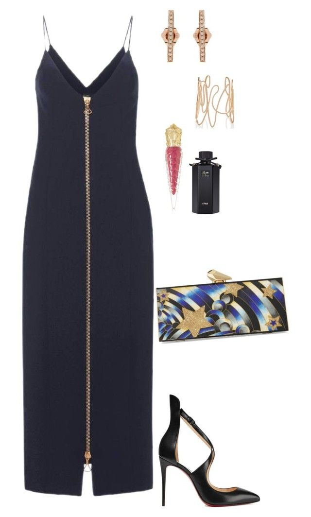 Untitled #2644 by janglin725 on Polyvore featuring polyvore fashion style E L L E R Y Christian Louboutin KOTUR Sydney Evan Repossi Gucci clothing