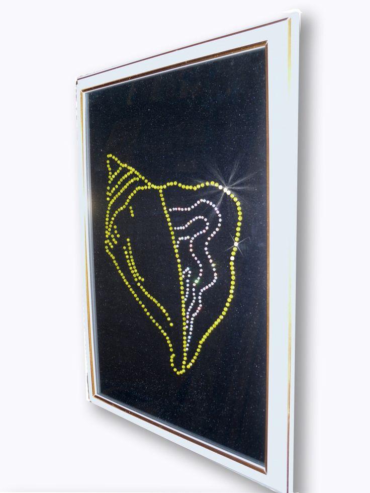 Картина  Ракушка из страз Выполнена из страз высокого качества. Эта картина безусловно украсит интерьер...