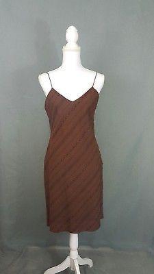 Ralp Lauren Coffee Bean Spaghetti Strap Dress 100% Cotton NWT Sz 8 Retails 69.50