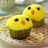 Påskmuffins  http://www.dansukker.se/se/recept/paaskmuffins.aspx  Blir så glad av de här små solskenskycklingarna #muffin #easter #recept