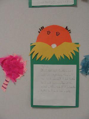 dr. seuss writing activities for first grade