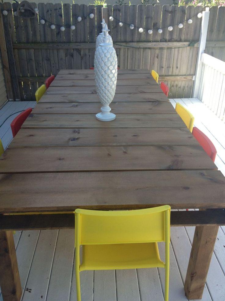 Best 25 Outdoor Dining Tables Ideas On Pinterest Diy