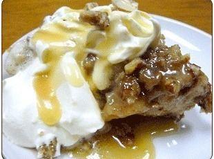 Praline Pecan Bread Pudding with Rum Sauce