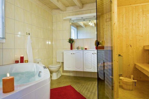 romantische atmosph re bei knisterndem kaminfeuer und ihr kleiner wellnesstempel im bad mit. Black Bedroom Furniture Sets. Home Design Ideas