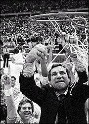 Dean Smith  Former UNC Tar Heels Head Coach 1961-1997.  2 NCAA Championships 1982 and 1993; 11 Final Fours.  NIT Championship 1971.  US Olympic Basketball Head Coach 1976 - Gold Medal Winner.  Basketball HOF Inductee 1983.  Civil Rights Advocate.  Coached notable names like Michael Jordan and James Worthy.