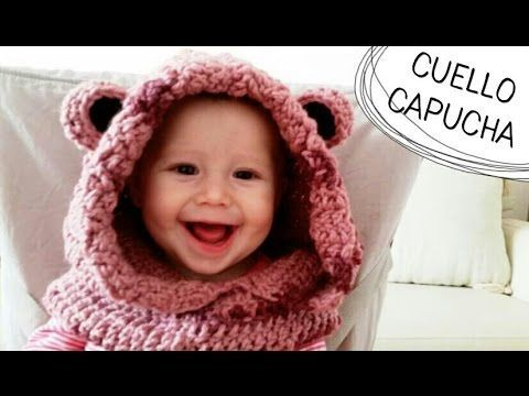 Cuello con Capucha de Osito a Crochet / (English Subtitles) Crochet Cowl...