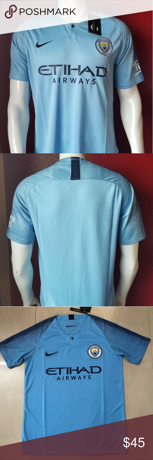 MANCHESTER CITY PREMIER LEAGUE SOCCER JERSEY Brand new  Never used  Same bussiness day shipping Perfect gift for your friend, boyfriend or husband FOO…