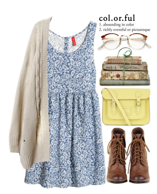 """""""As Yellow as the Sun"""" by evangeline-lily ❤ liked on Polyvore featuring H&M, RetroSuperFuture, Shabby Chic and The Cambridge Satchel Company"""