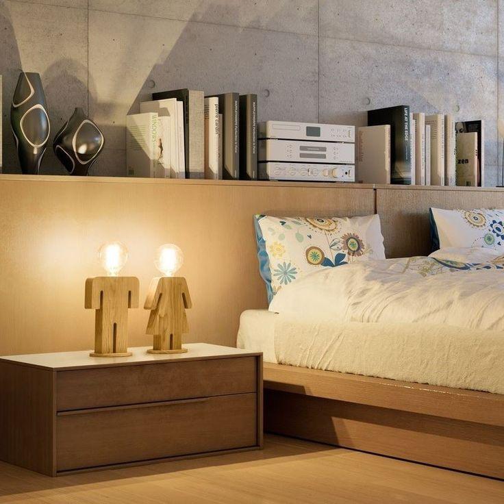 Snoerboer - Adam tafellamp man 24cm 1x E27 hout