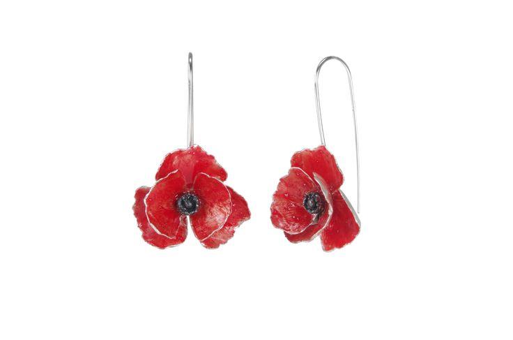 Red Silver Long Earrings  http://susanateixeira.pt/product/red-silver-long-earrings/