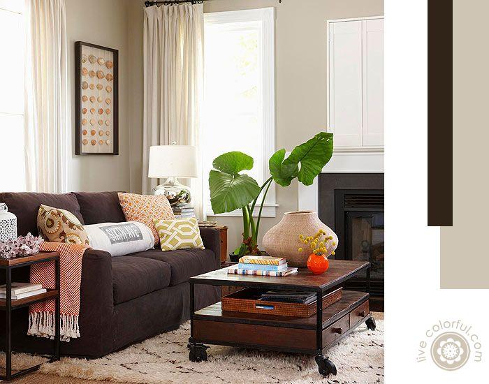 Colores de paredes con muebles oscuros muebles oscuros oscuro y sal n - Sofa marron de que color las paredes ...