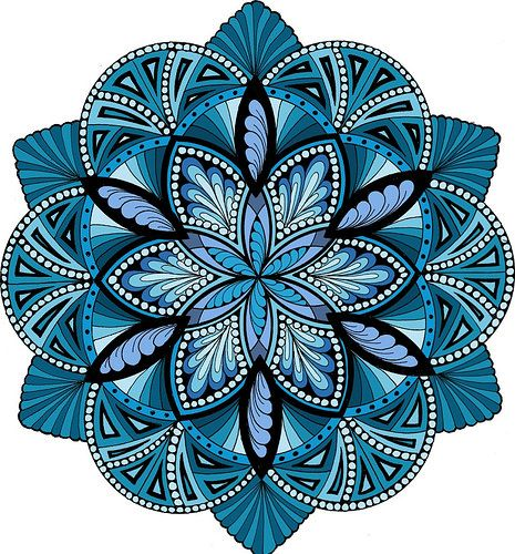 Energize It - Ocean | Mandala hand drawn and digitally color… | Jane Snedden Peever | Flickr