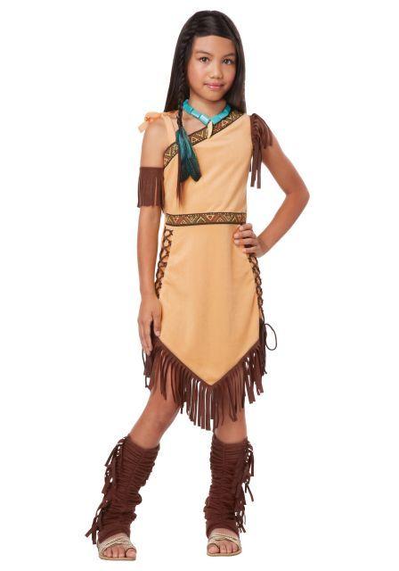 fantasia de índio infantil da Pocahontas