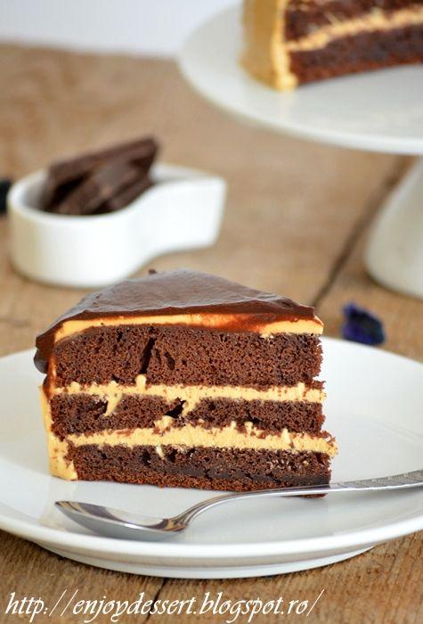 Tort de ciocolata cu dulce de leche - caramel