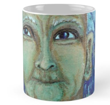 Auntie Ebb mug ~ http://www.redbubble.com/people/elizafayle/works/13682796-auntie-ebb?p=mug  #woman #old #elderly #wise #crone