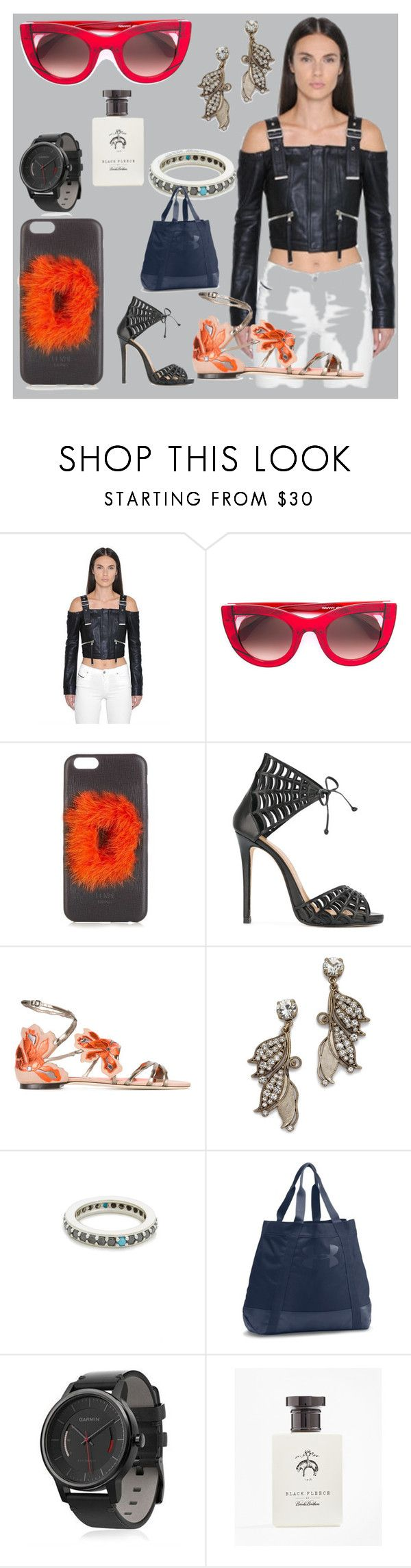 """""""Your style and your store"""" by denisee-denisee ❤ liked on Polyvore featuring Diesel Black Gold, Thierry Lasry, Fendi, Marc Ellis, Jimmy Choo, Lulu Frost, Fayt Jewelry, Under Armour, Garmin and Brooks Brothers"""