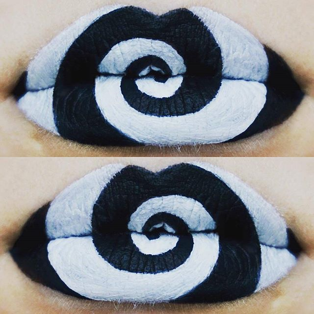 Wicked lip artwork created by @ravenmoonmakeup using Pretty Zombie Cosmetic's Black Cat Lipstick