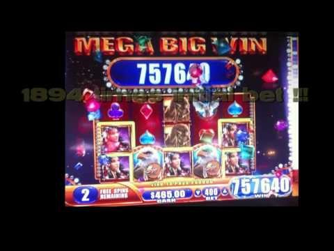 Jackpot $7,600.00 slot machine win on a $4 bet, at the Ameristar Casino, St. Louis, MO.
