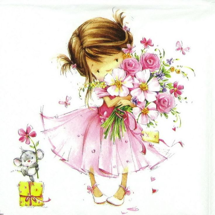 4x Single Table Paper Napkins for Party Decoupage Craft  Little Princess