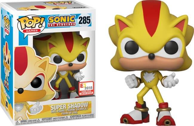 Sonic Funko Pop Super Shadow 285 Em 2020 Figuras