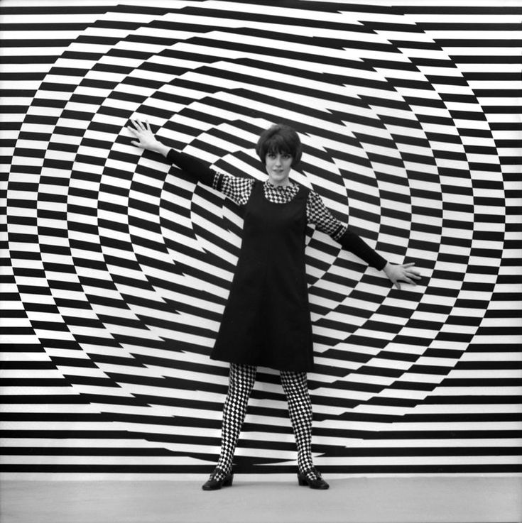 """op art 1960s-- short for """"optical art,"""" this style created visual illusions largely through geometric patterns."""