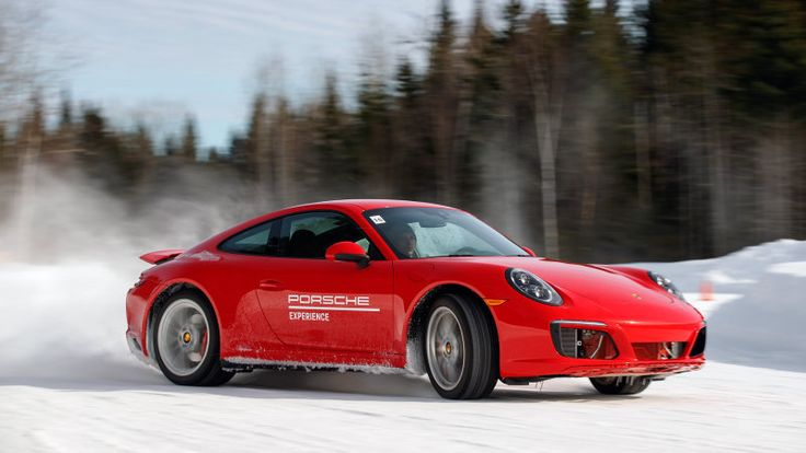 The 911's rear-bias also shows a happy application on the slalom. That weight in the rear makes for exuberant pendulum turns.