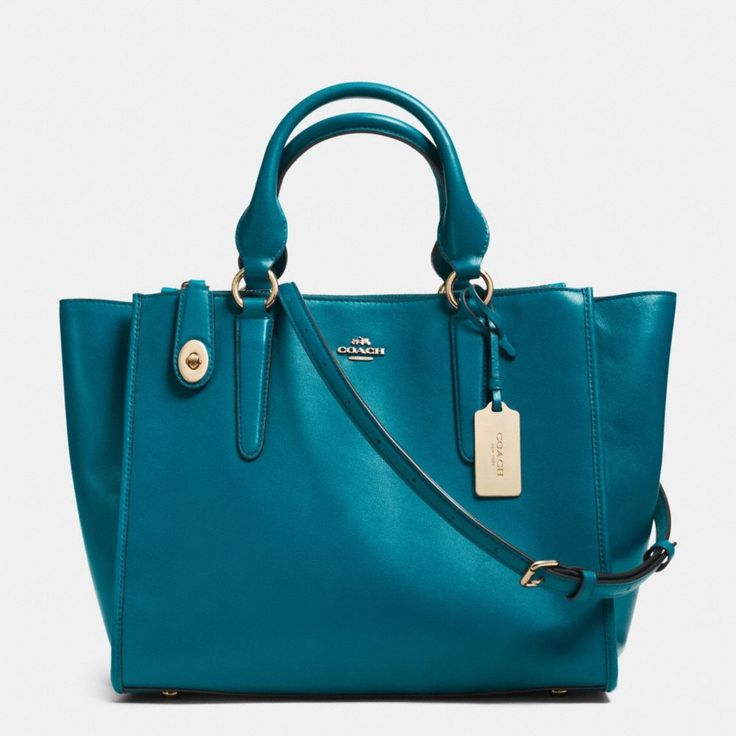Coach Crosby carryall In teal leather.  It's only 400 bucks, such a steal!! LoL