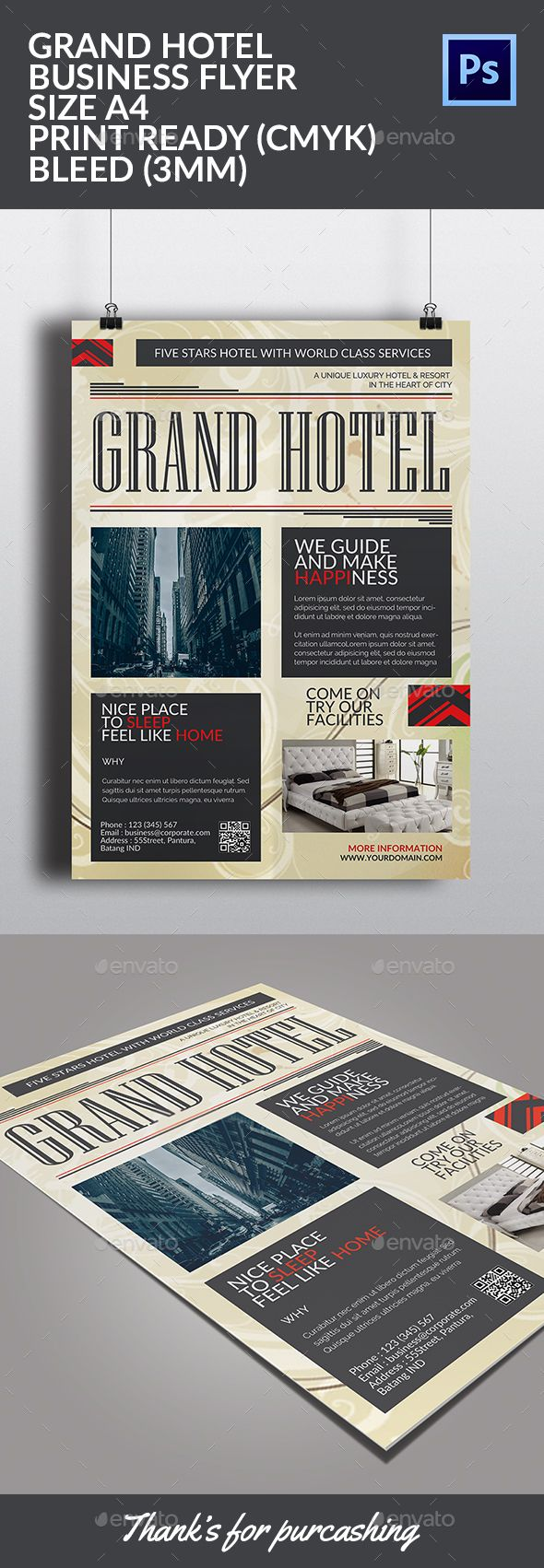 Grand Hotel Flyer Template - Corporate Flyers