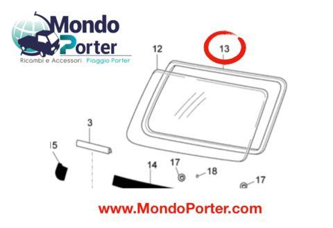 Guarnizione Vetro  Parabrezza Piaggio Porter 5612187Z01000